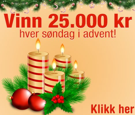 Vinn 25.000 kr for hver søndag i advent!